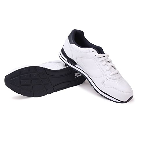 Slazenger Classic Mens Trainers Lace Up Padded Tongue Training Sneakers Shoes White/Navy 6WeVetmI