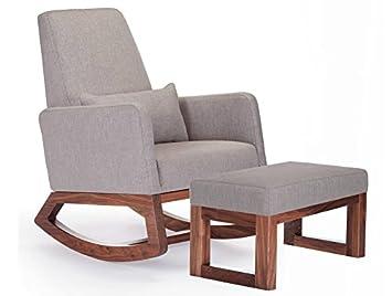 Amazon.com: Monte diseño tapizado moderno joya mecedora ...