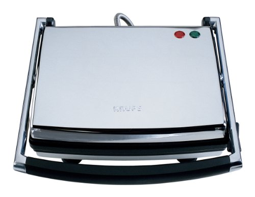 KRUPS FDE312 Universal Grill and Panini Maker with Nonstick Cooking Plates, Silver by KRUPS