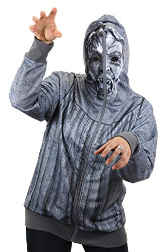 Weeping Angel Mask (elope Dr. Who Weeping Angel Full Zip-Up Hoodie Mens XL)