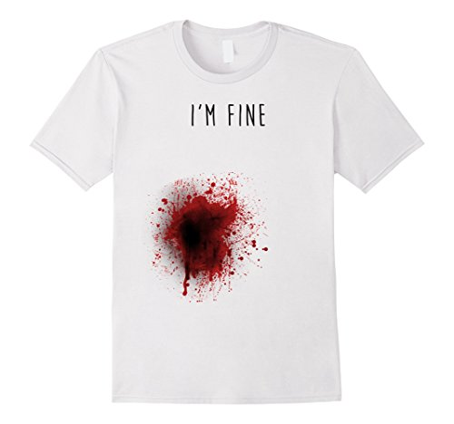 I'm Fine T-shirt - Male XL - White by BuzzTshirt (Image #1)