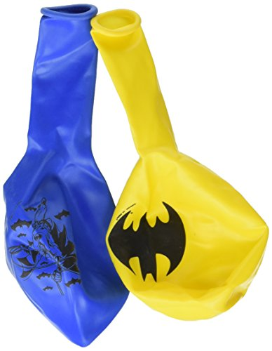 (Amscan Awesome Batman Birthday Printed Balloons Childrens Party , Batman Printed, 36 Pieces)