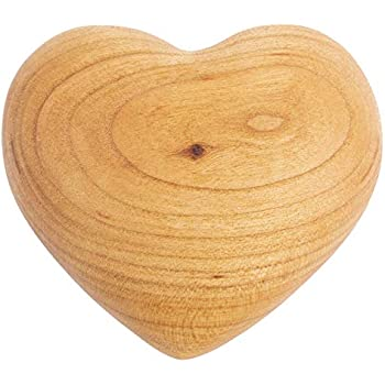 3 Hearts Solid Olive Wood Carved Ornaments Table Decoration Valentines Comfort