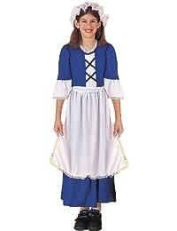 Colonial Girl Costume, Child's Medium