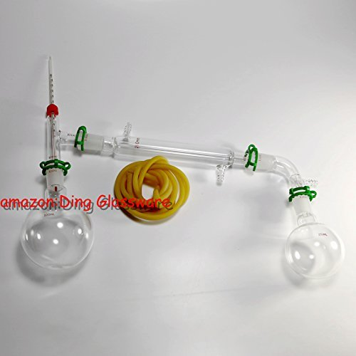 Dinglab,500ml Chemistry Lab Glassware Kit,glass Distilling,distillation Apparatus,24/40