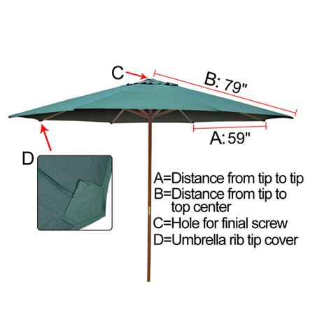Amazon.com : 13FT 8 Ribs Umbrella Cover Canopy Green Replacement Top Patio  Market Outdoor Beach : Garden U0026 Outdoor