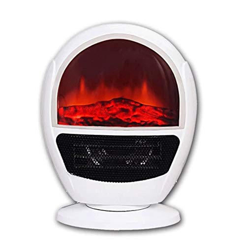 Cheap RKRGQ Electric Fireplace Portable Electric Stove Heater with Realistic Log Fire Flame Effect Adjustable Thermostat Overheat Protection 300W/600W (White) Black Friday & Cyber Monday 2019