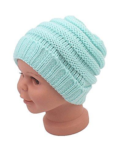 Beanie Skull Slouchy Caps Unisex Baby Boy Girls Warm Crochet Winter Wool Ribbed Knit Ski Hat