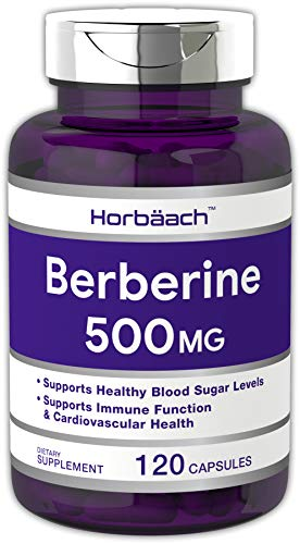 Horbaach Berberine HCl 500mg 120 Capsules | Non-GMO, Gluten Free Supplement