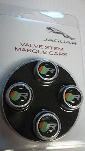 Jaguar OEM Accessory ''R'' Valve Stem Caps by Jaguar