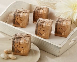 50 Rustic Hearts In Love Vintage Shabby Chic Wedding Party Favour ...