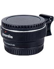 Commlite Auto Enfoque EF-NEX EF-E Adaptador de Montaje de Objetivo con Montura para Canon EF EF-S Objetivo Sony E Monte NEX 3/3N/5N/5R/7/A7 A7R Marco Completo, Color Negro