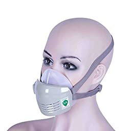 Chemical Reusable Anti-Dust Paint Respirator Welding Safety Mask Industrial PM2.5 w/ Activated Carbon Filters Google