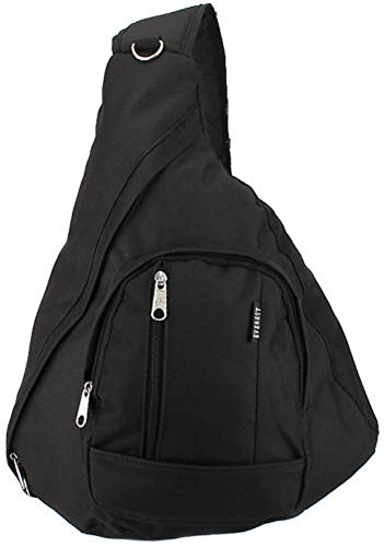 Everest Shoulder Sling Backpack Messenger Bag Black