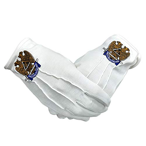 - Masonic Scottish Rite 32nd Degree Cotton Gloves
