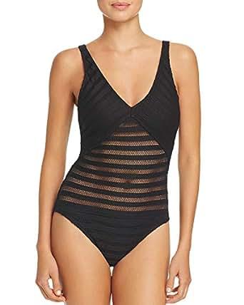 Lauren Ralph Lauren Ottoman V-Neck One Piece Swimsuit