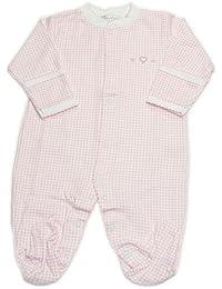 Preemie Footies and Rompers -Kissy Kissy Baby-girls Homeward Gingham Embroidered Hearts Footie Bodysuit