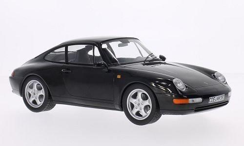 Porsche 911 (993), metallic-schwarz, 1993, Modellauto, Fertigmodell, Norev 1:18