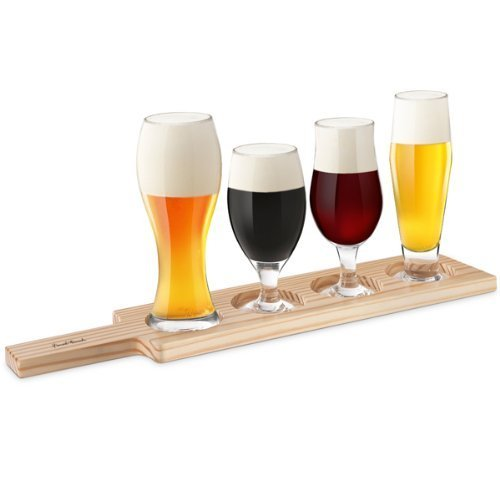 Beer Tasting 6 Piece Set | Beer Glass Gift Set for Beer Appreciation, Education and Food Pairings Final Touch 2809