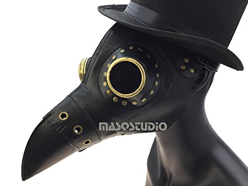 MASQSTUDIO The Plague Doctor Bird Mask Halloween Cosplay Masquerade Ball Party Bandage Raven Mask New (Black) for $<!--$27.95-->