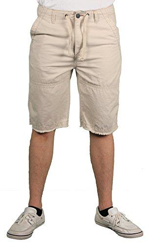 Unionbay Flat Front Shorts (Unionbay Men's Sloane Draw Cord Short, Stone, 30)