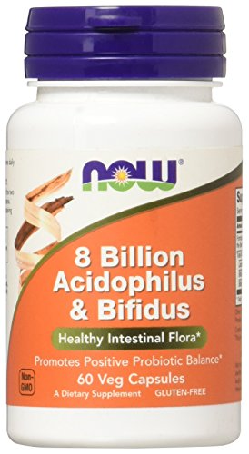 NOW Foods Acidophilus & Bifidus 8 Billion VCaps, 60 ct