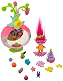 Trolls 4347289641 DreamWorks Sparkle Surprise Party Pod Playset with Poppy Figure, 9 Critters, 8 Accessories and Color-Changing Sticker Sheet, Brown