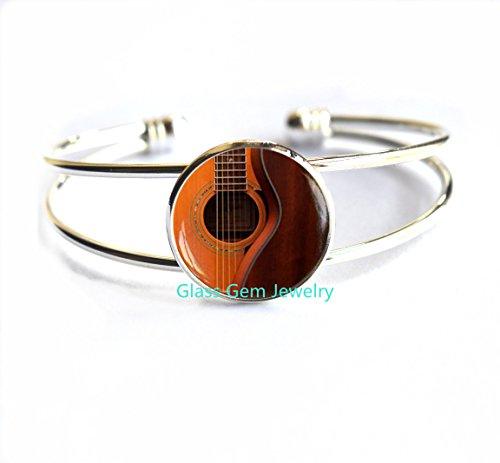 Guitar Bracelet, Acoustic Guitar Art Bracelets, guitar jewelry, music Bracelet, music art Bracelets, Guitar player gift, Gift for musician,Q0122