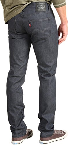 Levi's Men's 511 Slim Fit Jean, Rigid Grey - Stretch, 33W x 34L
