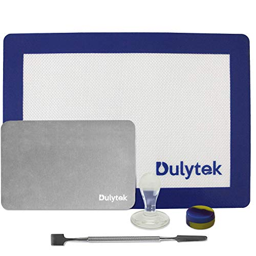 (Dulytek Wax Collection Gadget and Tool Set - Big Stainless Steel Scraper, Glass Stamp, Concentrate Jar, 4
