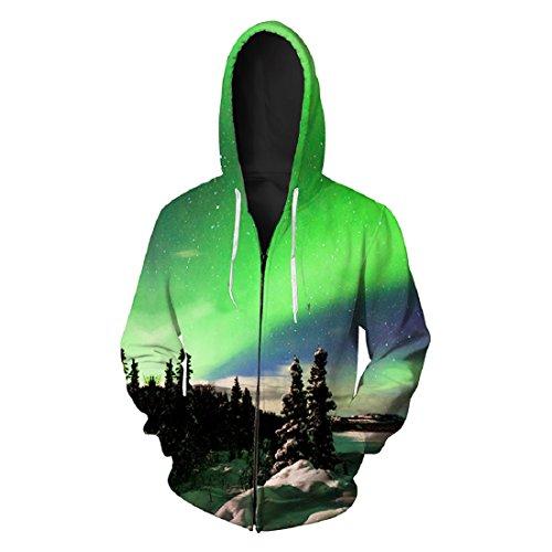 Pour Capuche Vert arbre Avec Pull Homme Sweat Casual shirt Acvip Veste Pochette Zip À q4van6
