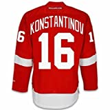 Vladimir Konstantinov Detroit Red Wings Home Jersey by Reebok, Large - SEWN TACKLE TWILL NAME/NUMBER