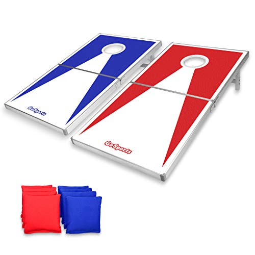 - GoSports Regulation Size Cornhole Set with Aluminum Frame
