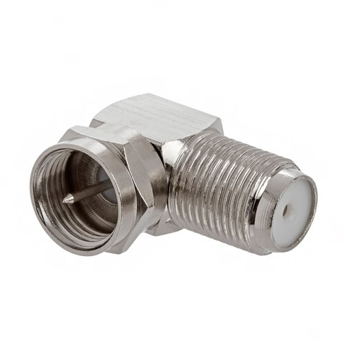 Coaxial Type F Female to Male Right Angle Adapter