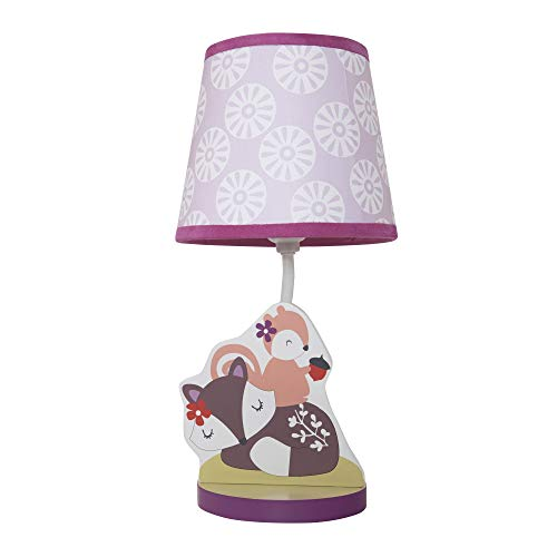 (Bedtime Originals Lavender Woods Lamp with Shade and Bulb)