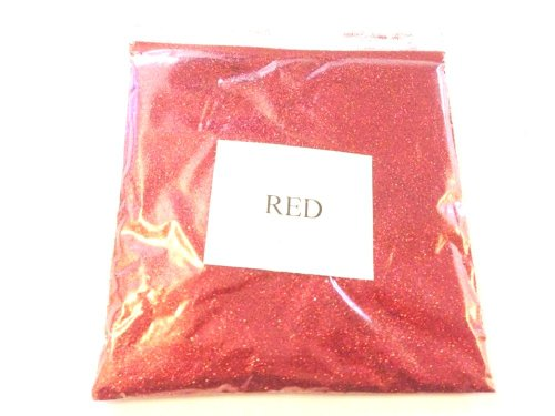 THEBEAUTYBOXBOUTIQUE 100G METALLIC RED GLITTER ULTRA FINE WINE GLASS ART AND CRAFT NAIL ART SCRAPBOOKING NON TOXIC