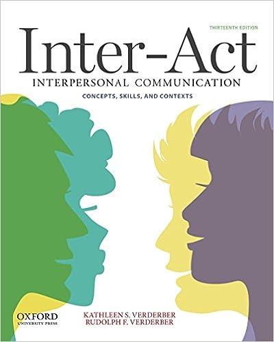 Amazon inter act interpersonal communication concepts skills inter act interpersonal communication concepts skills and contexts 13th edition fandeluxe Gallery