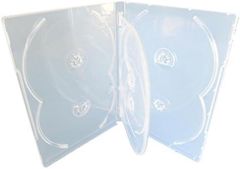 Media Replication CD/DVD/BLU Ray 14mm Clear DVD 6 Way Case for 6 Disc (Pack of 50), [Importado de UK]: Amazon.es: Electrónica