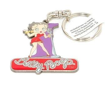 Llavero de metal, diseño de letra inicial de Betty Boop ...