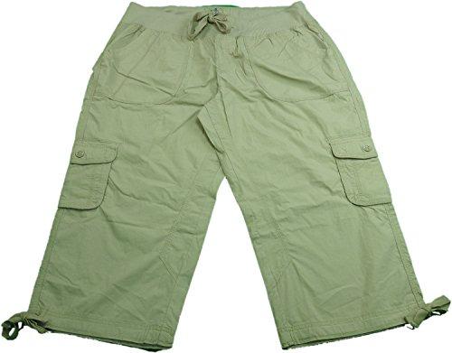 Calvin Klein Ladies Size XX-Large Cargo Convertible Capri Pants, Latte