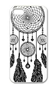 Treasure Design Funny Dreamcatcher (Black & White) APPLE IPHONE 5 Best Durable Case