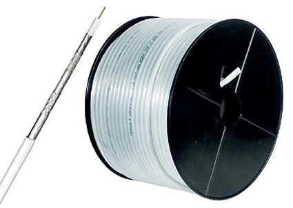 125dB – Cable coaxial de antena (CU), 5 fases, blindado, 100