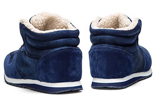 36 Gaatpot Neve Stringati Scarpe Blu Stivaletti 48 Imbottitura Adulto Da Con Stivali Calda Invernali Unisex hrxsQdtC
