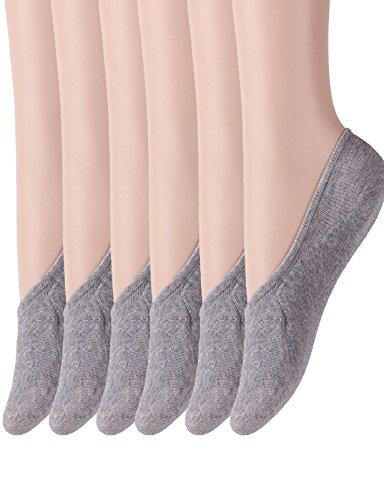 Cosynook Womens Non Slip No Show Low Cut Liner Socks Casual Socks GRAY S - Noten Buy Van Dries