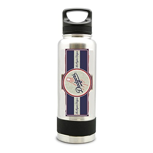 Duck House MLB Los Angeles Dodgers SS Double Wall Insulated Thermo Water Bottle, 34 oz, Multicolor