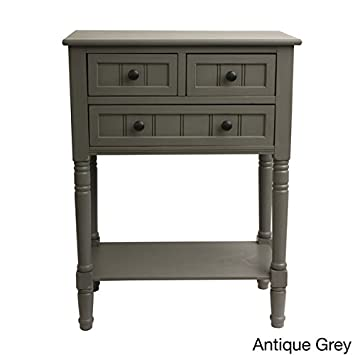 Simplify 3-drawer Classic Design 30 Tall Console Table antique grey