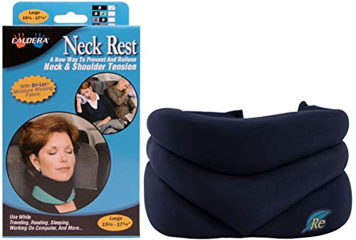 (CALDERA Releaf Neck Rest - Innovative, Patented Neck Rest That Keeps Your Head and Neck in Good Posture to Allow Your Neck & Shoulder Muscles to Relax (Black, Large))