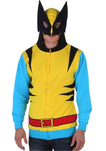 Jacket Marvel Yellow Costume (Wolverine Men's Classic Costume Hoodie, Yellow)