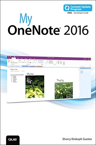 My OneNote 2016 (includes Content Update Program) [Sherry Kinkoph Gunter] (Tapa Blanda)
