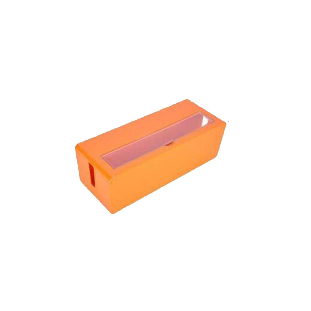 BAYUESHOP Paper Clip Holders Wire Storage Box Cable/Power Cord Socket Finishing Box Finishing Box Cleaner Box Expansion Box Manager Box Garbage Box Power Board Organizer Orange, 131mmx400mmx156mm by BAYUESHOP//Office Products